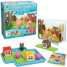 Three little piggies (3-6 ani, 1 jucator)